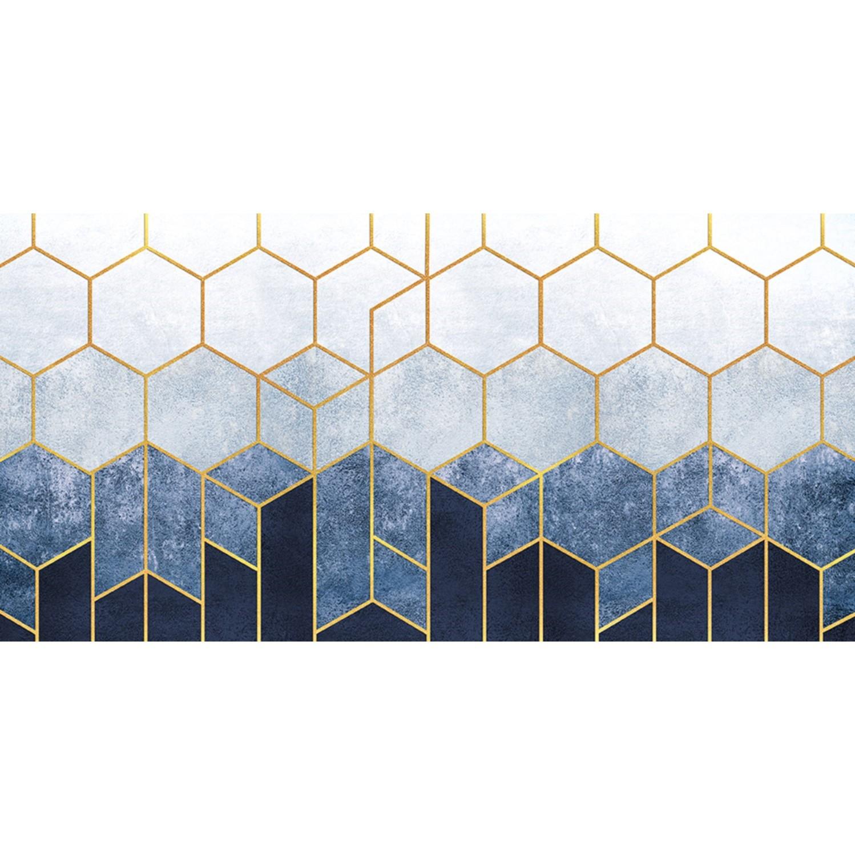 Quadro Decorativo em Canvas 50x100 cm Hexagono - Jolie