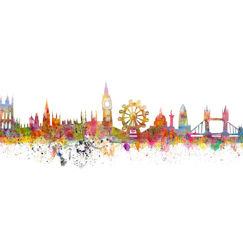 Quadro Decorativo em Canvas 50x100 cm Londres - Jolie