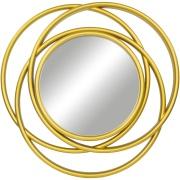 Espelho Decorativo Redondo 50x50cm com Moldura Dourado - Jolie