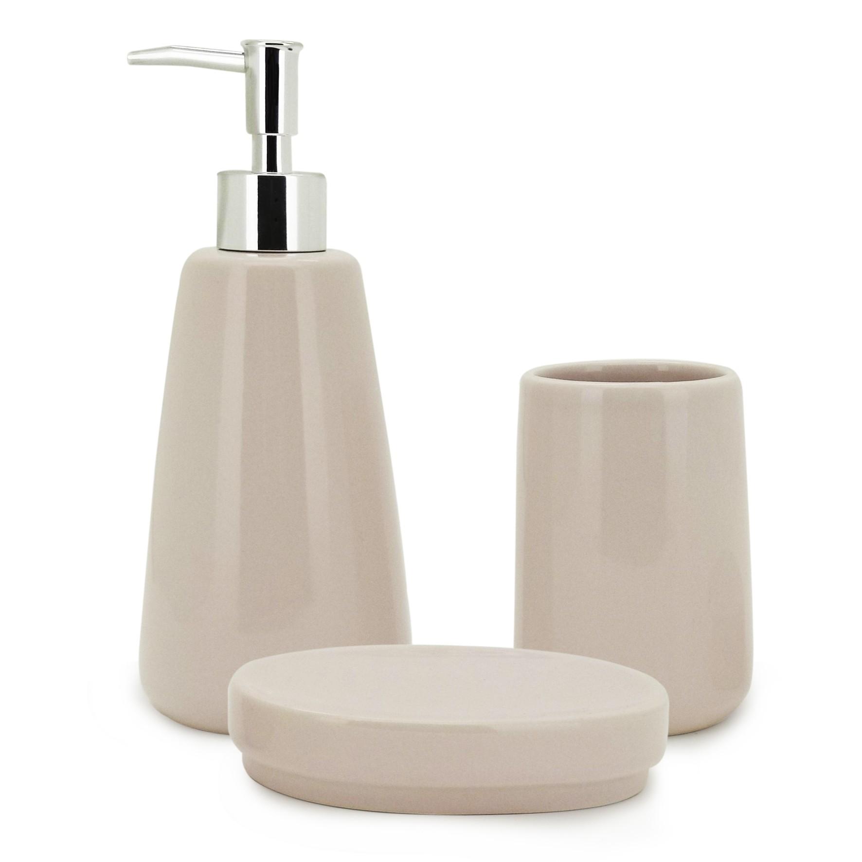 Jogo para Banheiro de Ceramica 3 Pecas - Mimo Imp - 7088