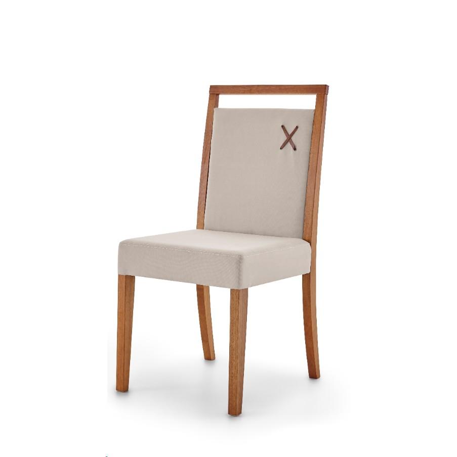 Cadeira Estofada de Mesa Linho sem Braco Bege - Herval