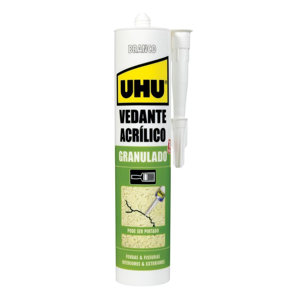 Selante Acrilico Granulado 280ml Branco - Adere QU