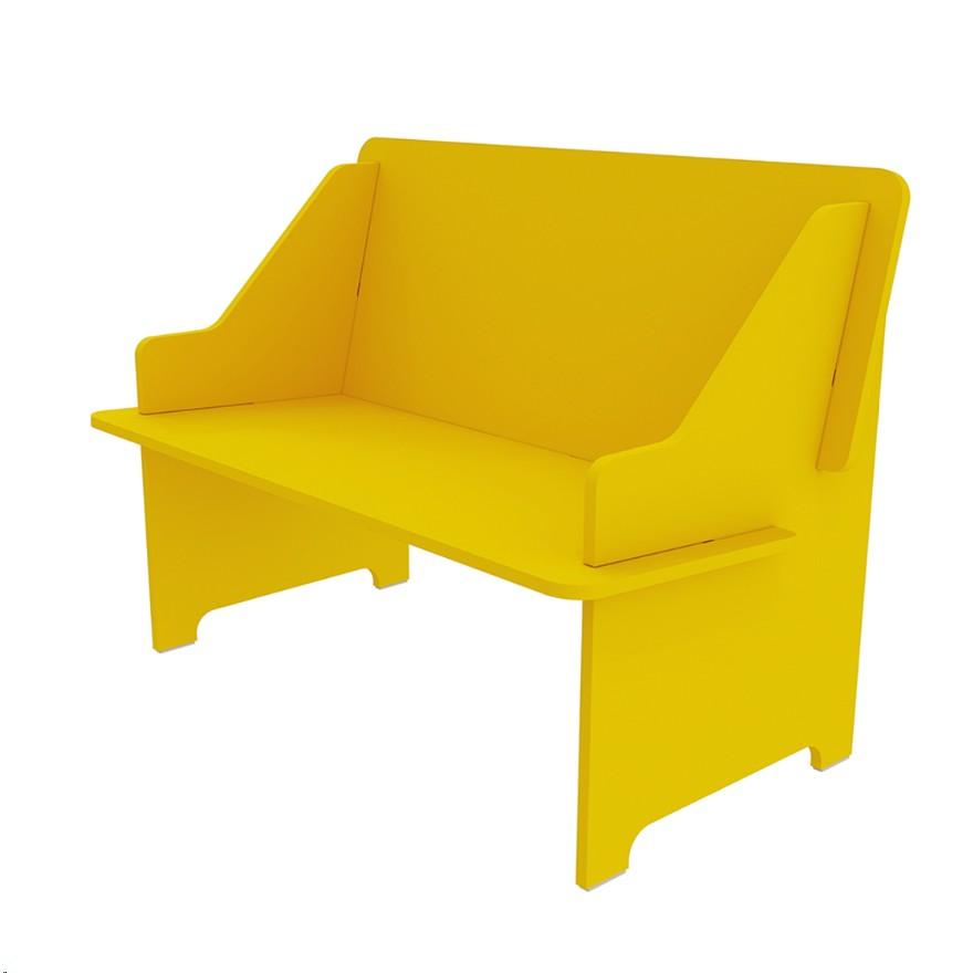 Sofa Infantil Twister 2 Lugares Amarelo - Tcil