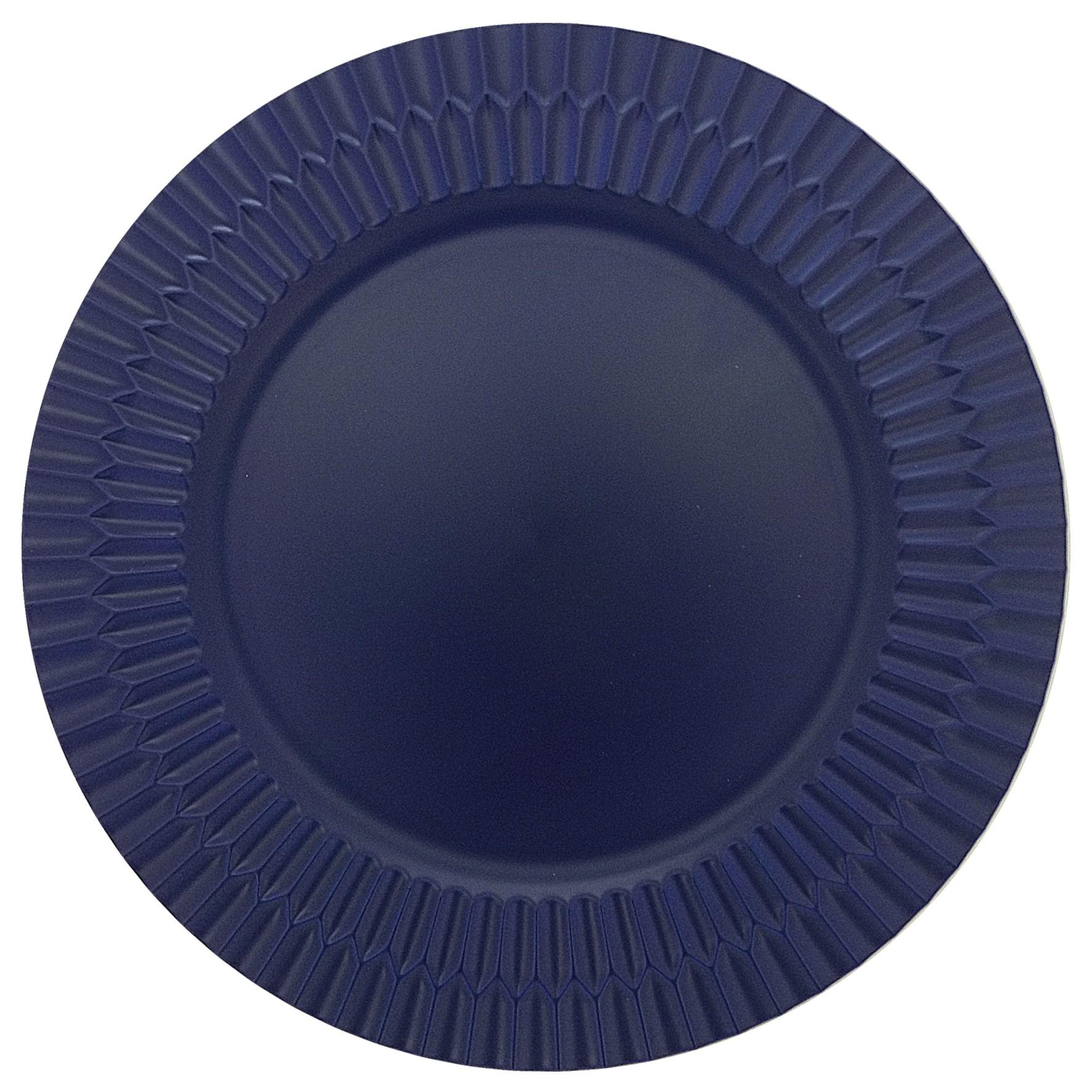 Sousplat Layers Plastico 33cm Azul Royal - Mimo Style