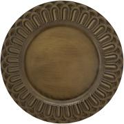 Sousplat Redondo Plástico 33cm Dourado Arcos -  Mimo Style
