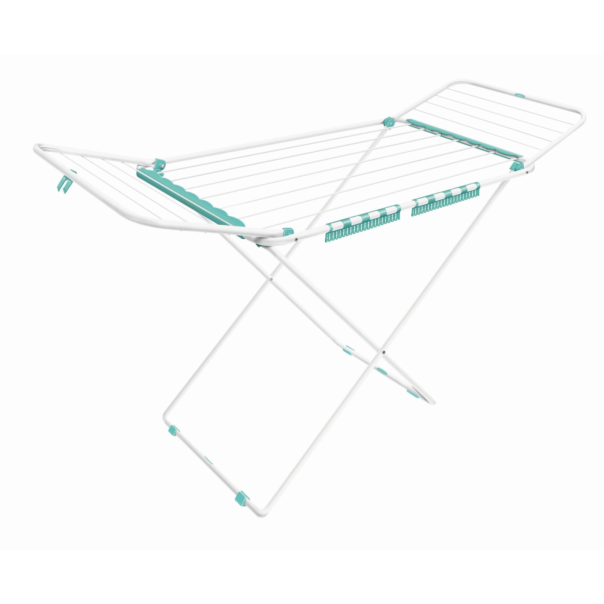 Varal de Piso Dobravel com Abas 123x56cm Branco - Secalux