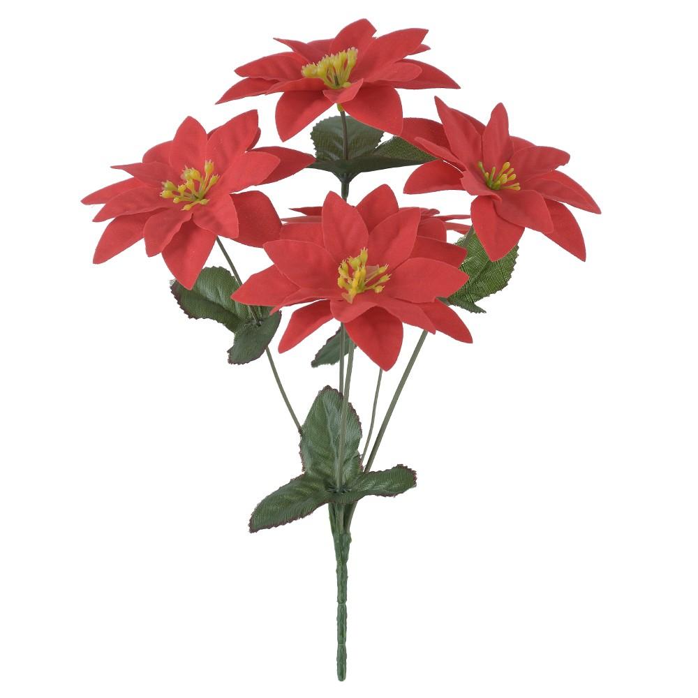 Buque Aveludado de Flor Artificial Bico De Papagaio - Dea Natal