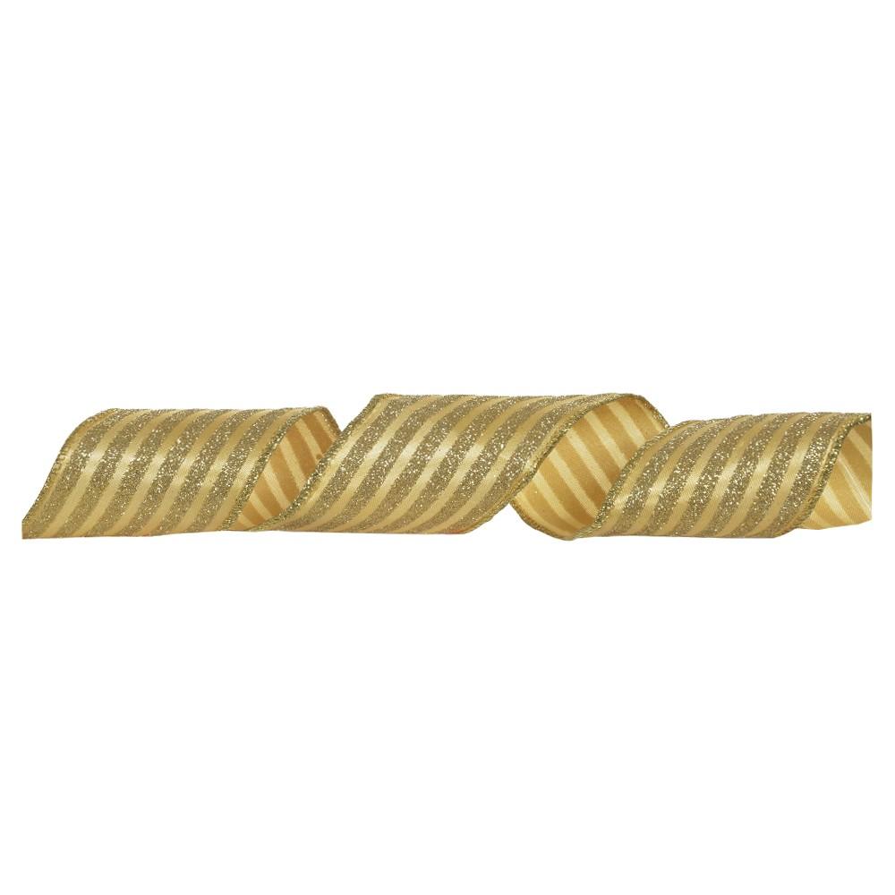 Fita Aramada de Cetim com Glitter Dourado 8003 - Dea