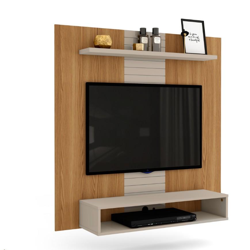Painel para TV Smart 120cm Carvalho Nobre - Dj Moveis