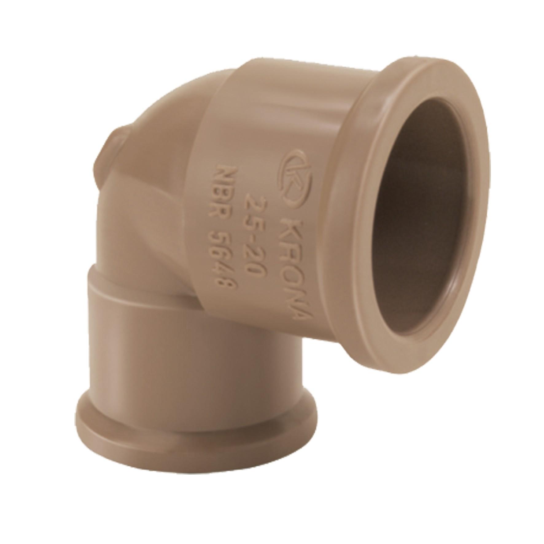 Joelho Simples Soldavel PVC 32x25 mm - Krona