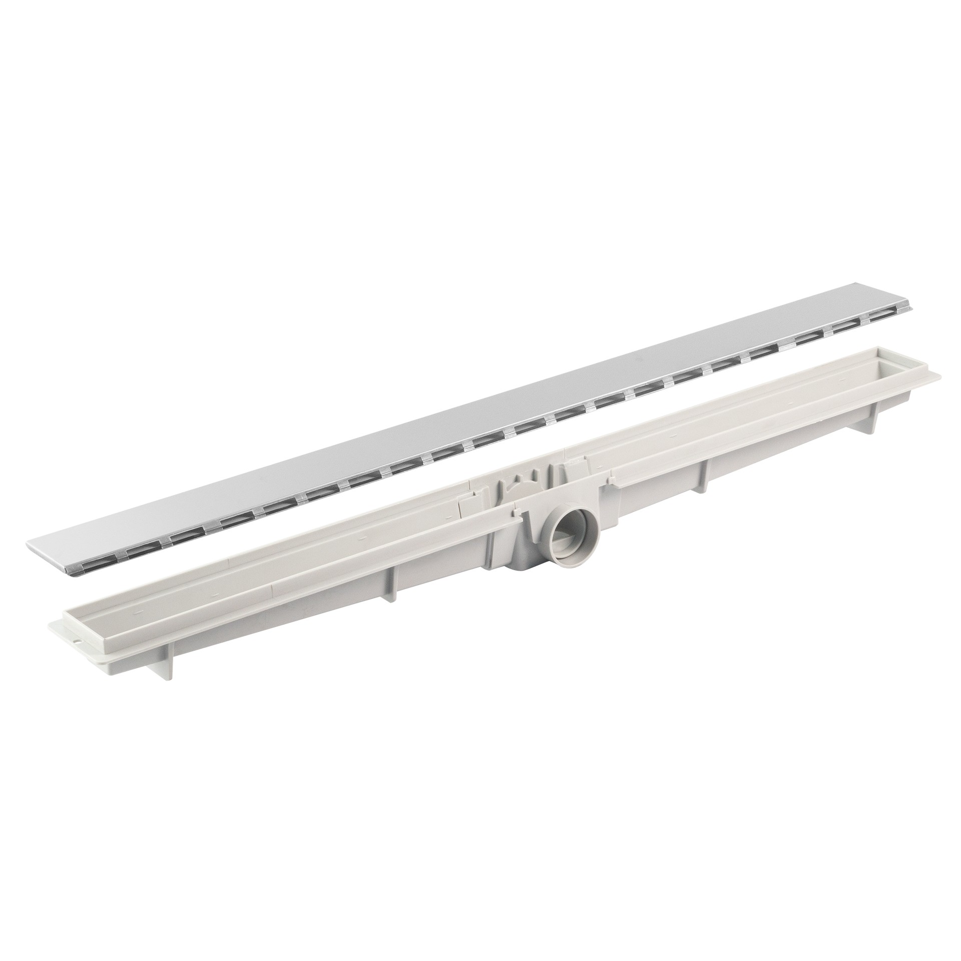 Ralo de Aco Inox Linear Flat 5 x 50 cm - LGMais