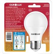 Lâmpada LED Sensor de Presença 9W E27 Luz Branca - Ourolux