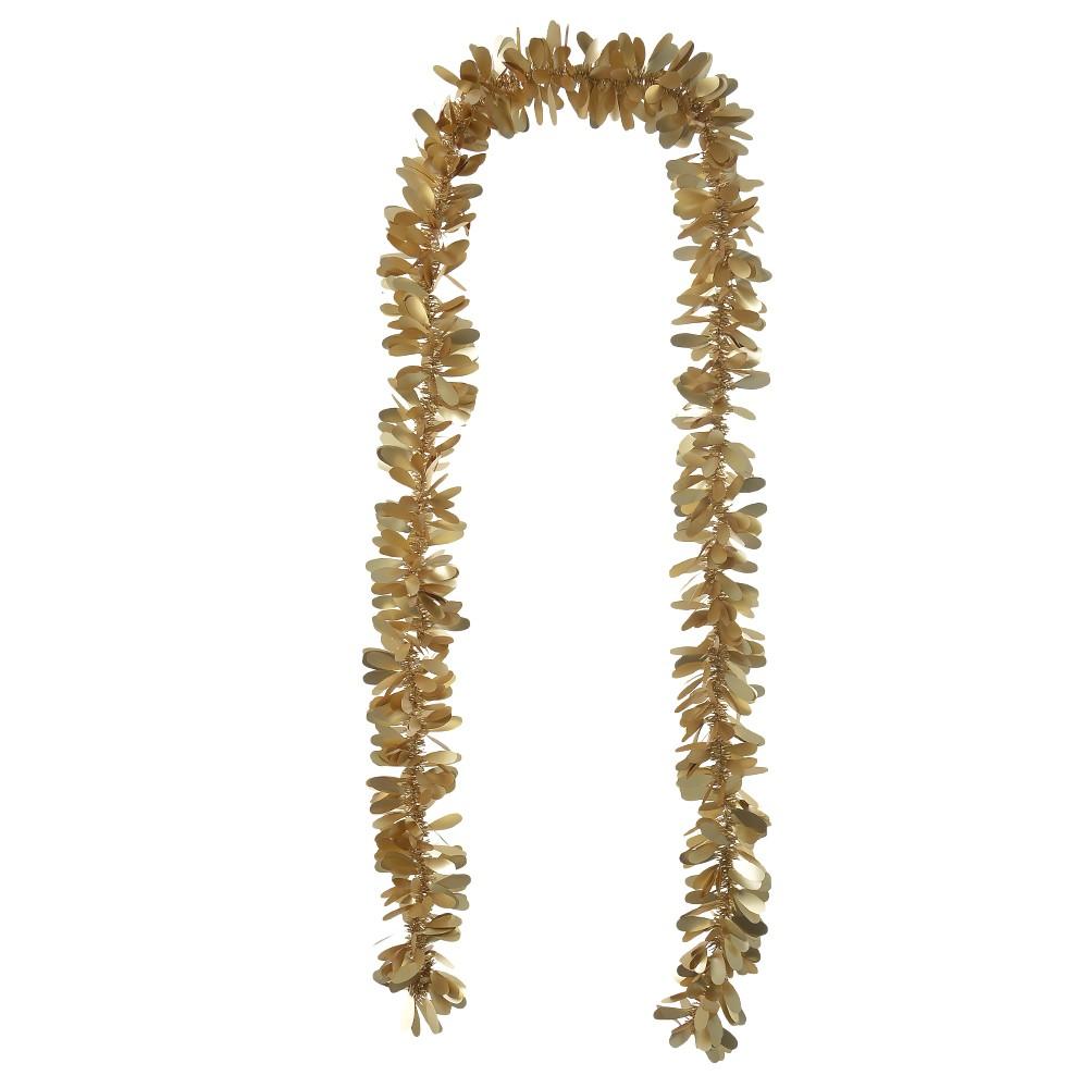 Festao de Natal de Plastico Dourado 2m x 9cm - Dea