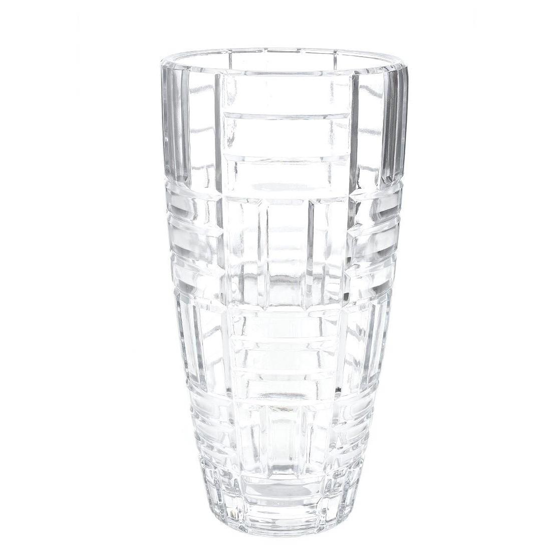 Vaso Decorativo de Vidro Luxo Listras Transparente - G Presentes