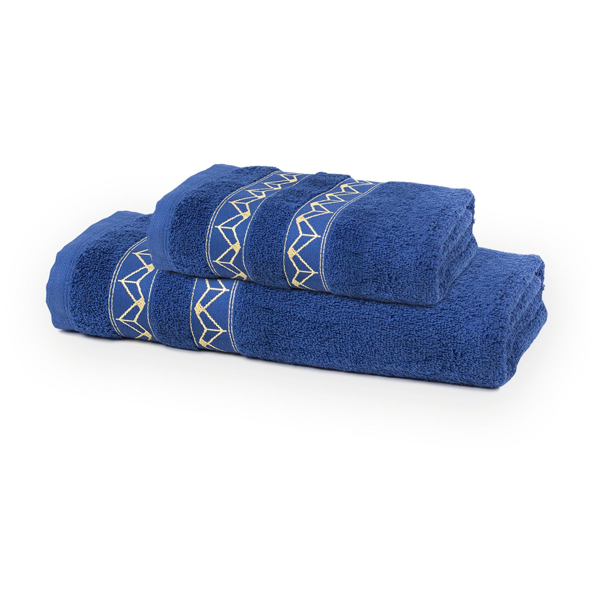 Jogo de Toalha 2 Pecas Santista Lalique 100 Algodao Felpuda - Azul