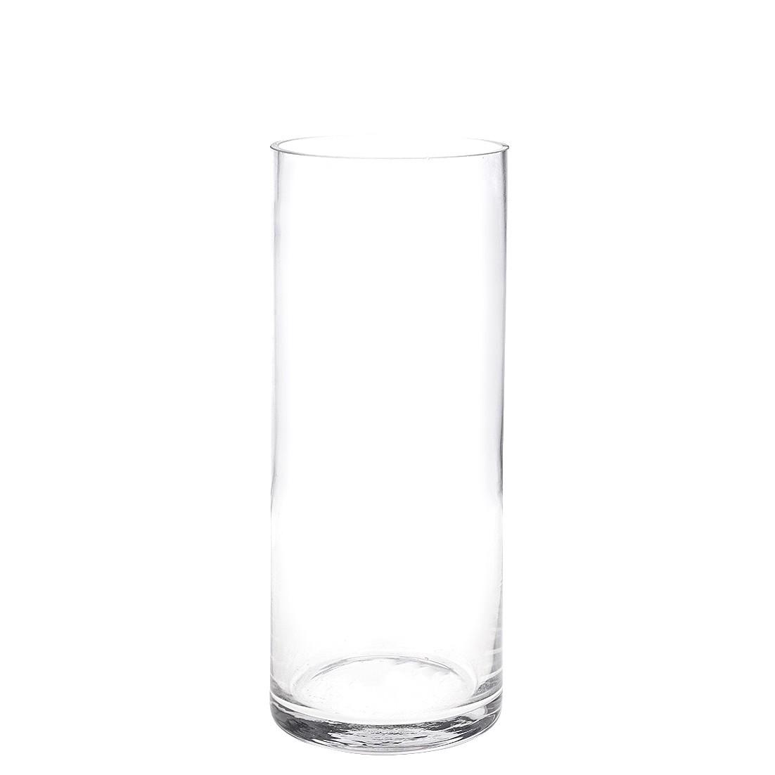 Vaso Decorativo de Vidro 25 cm Redondo Transparente - GPresentes