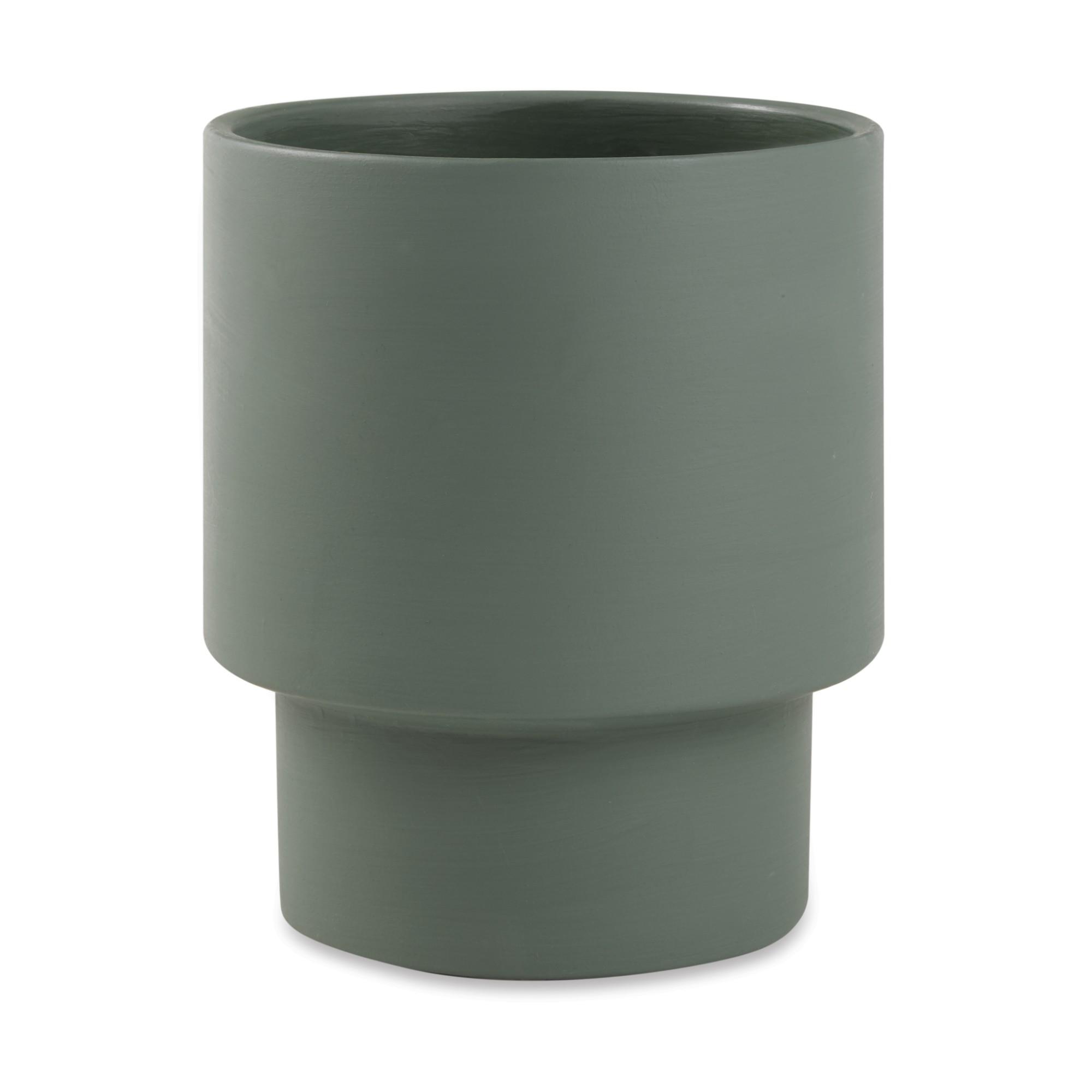 Cachepot Cimento Verde 195x17 cm 12331 - Mart Decor