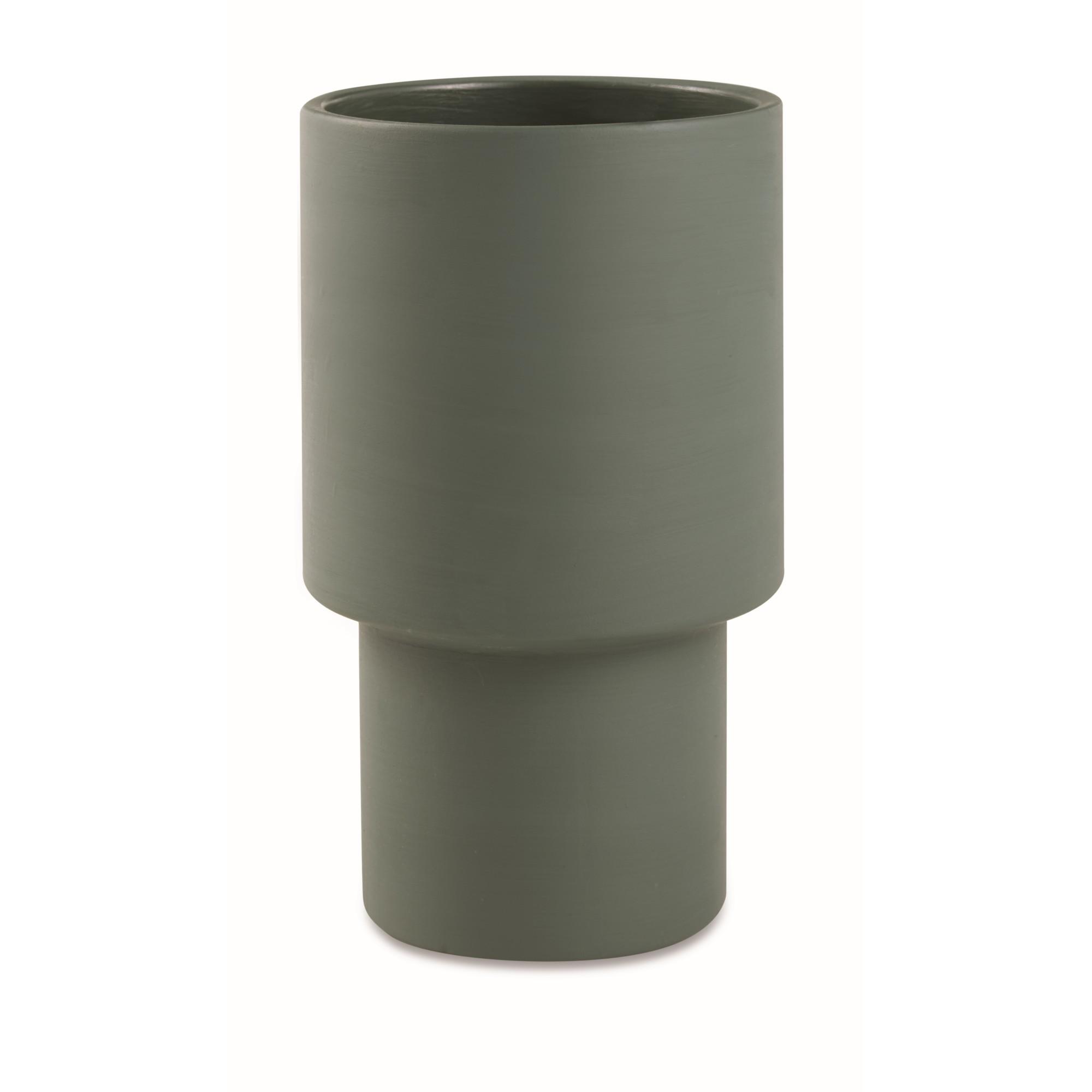 Cachepot Cimento Verde 25x15 cm 12328 - Mart Decor