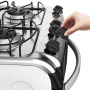 Fogão de Piso 4 Bocas Branco Electrolux com Acendimento Automático - 52LBU