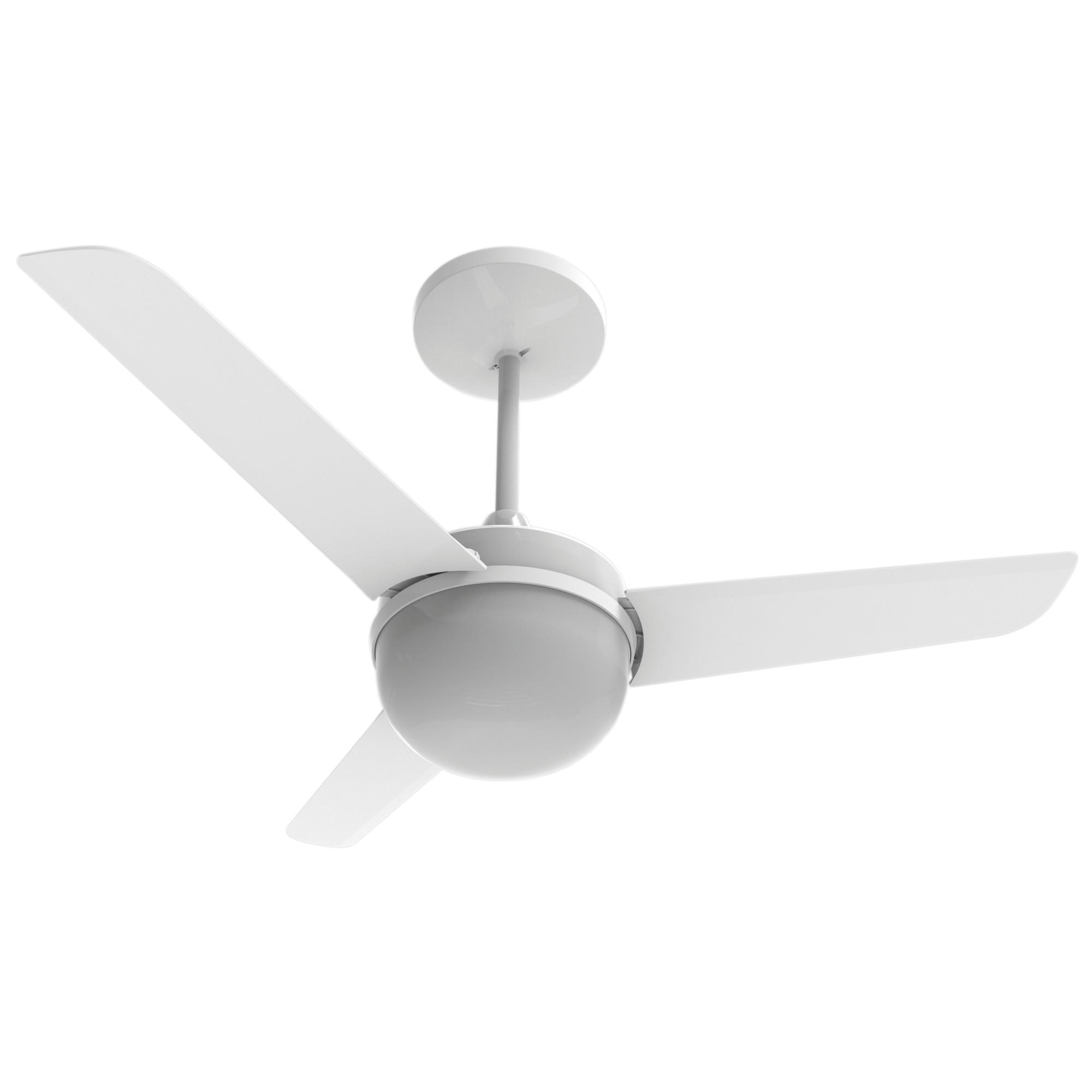 Ventilador de Teto Aliseu Branco 3 Pas Alisclean 220V - 2 Lampadas 3 Velocidades