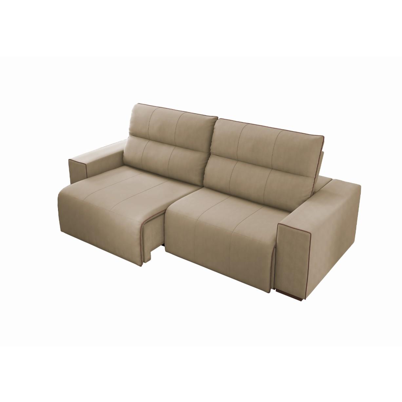 Sofa 2 Lugares Leblon Retratil Reclinavel Veludo 232cm Castor - Spazzio