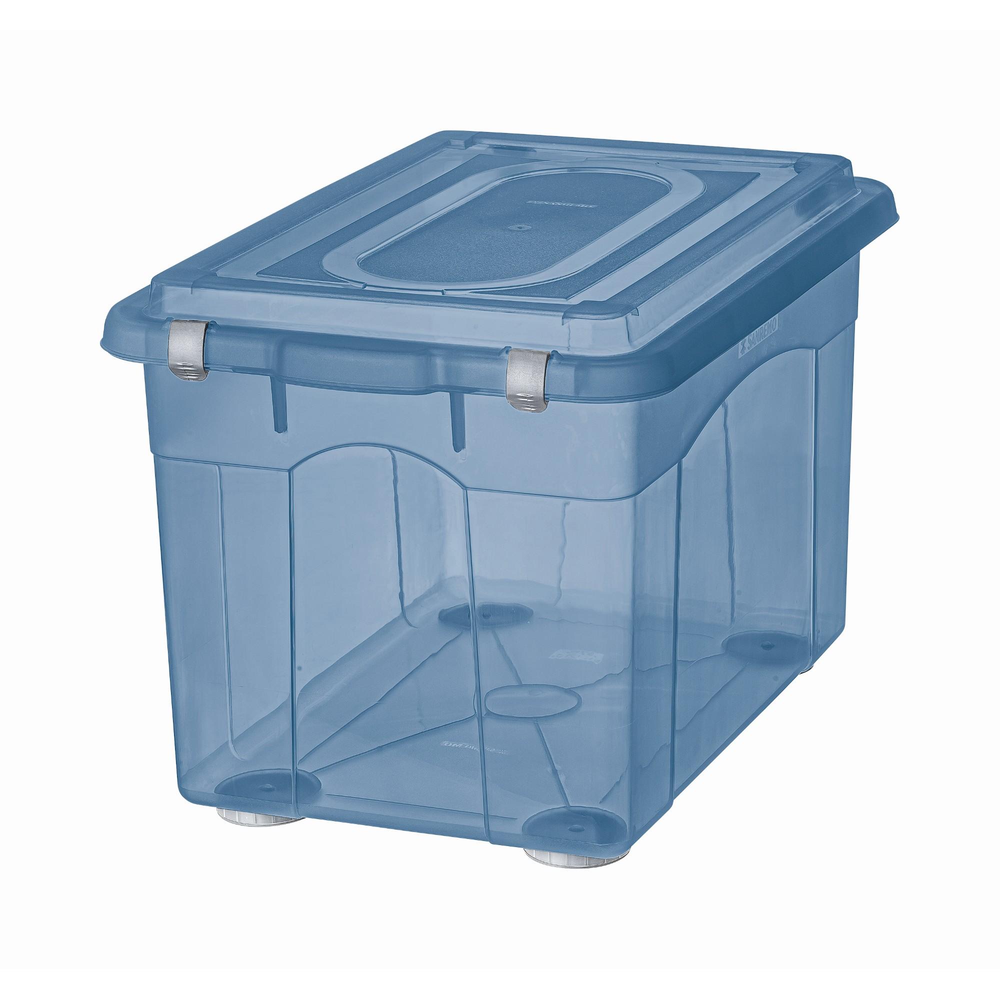 Caixa Organizadora Retangular 560L Azul SR97586 - Sanremo