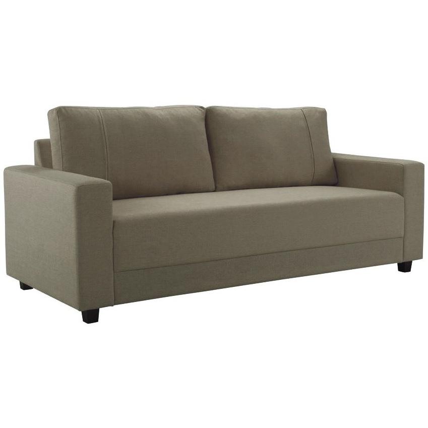 Sofa 3 Lugares Suede 200 cm Marrom Claro - Herval