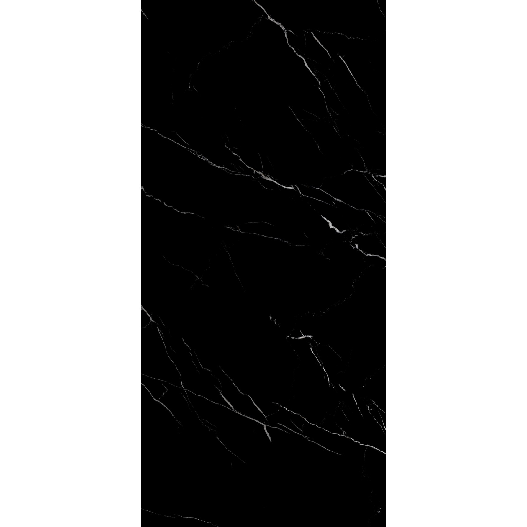 Porcelanato Eliane 80x160 cm Esmaltado Polido Nero Marquina 256m