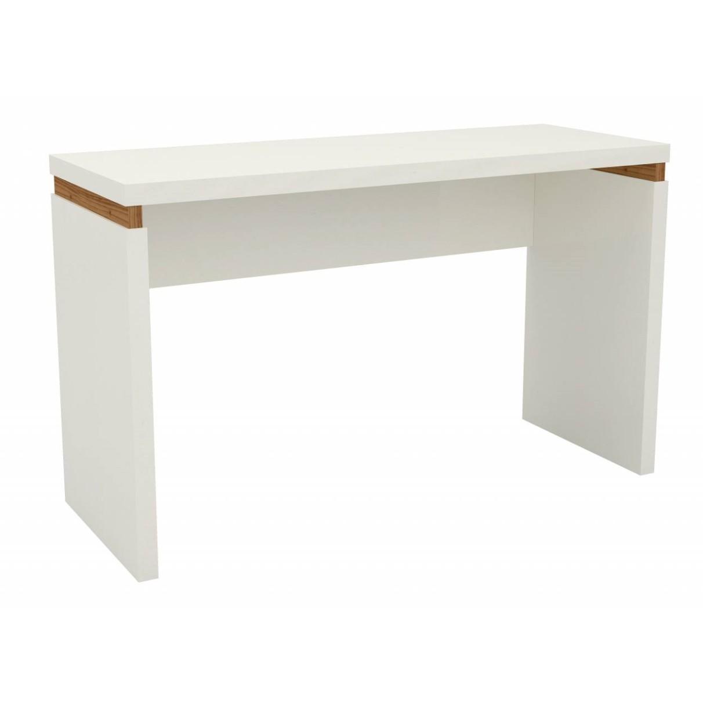 Mesa para Escritorio Dalla Costa Tamburato 45x73x120 cm - Off White
