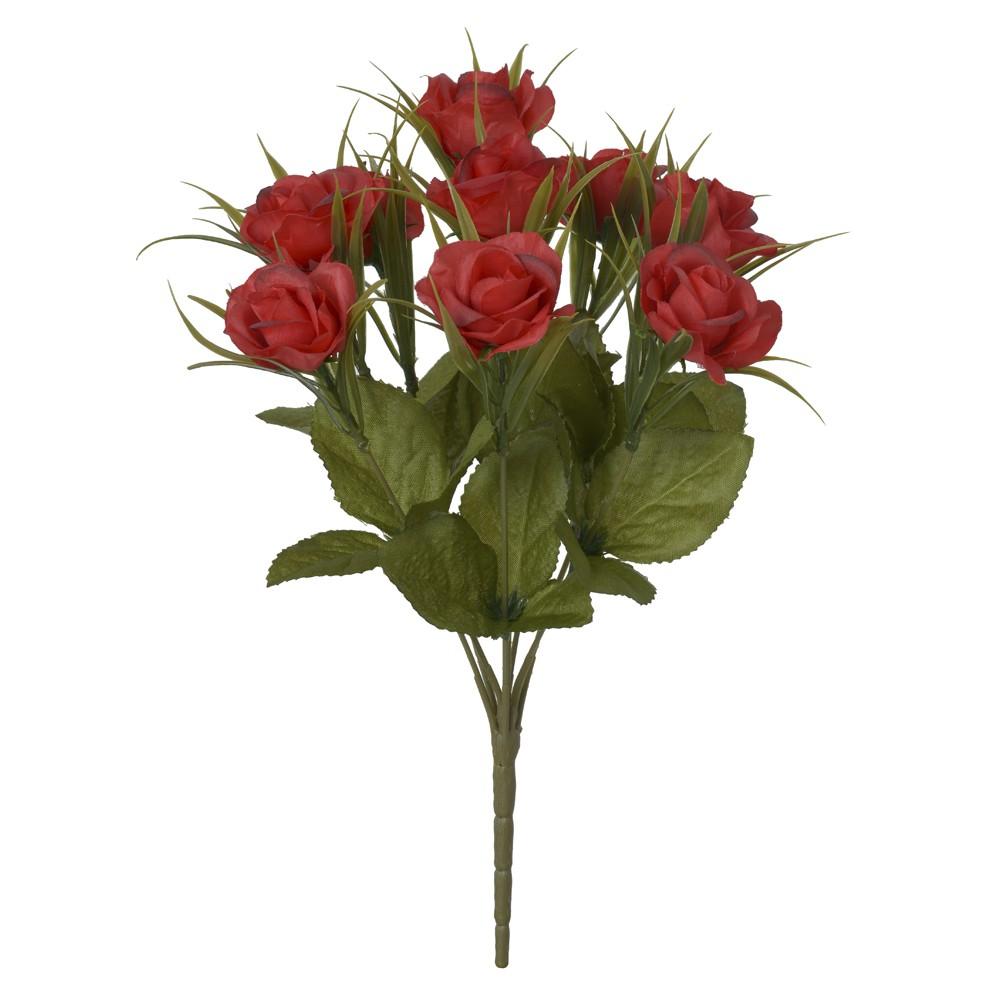 Buque Artificial de Rosas Flor Mini Marsala Outono 31 cm - Dea