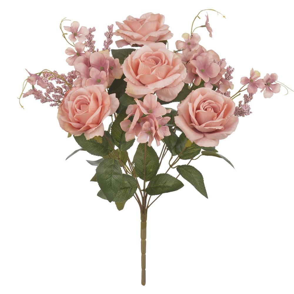 Buque Artificial de Rosas Rosa Outono Hortensia - Dea
