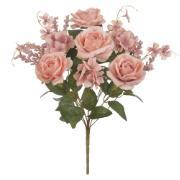 Buquê Artificial de Rosas Rosa Outono Hortensia - Dea