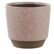 Vaso Decorativo de Cerâmica Redondo Rosa Claro - Dea
