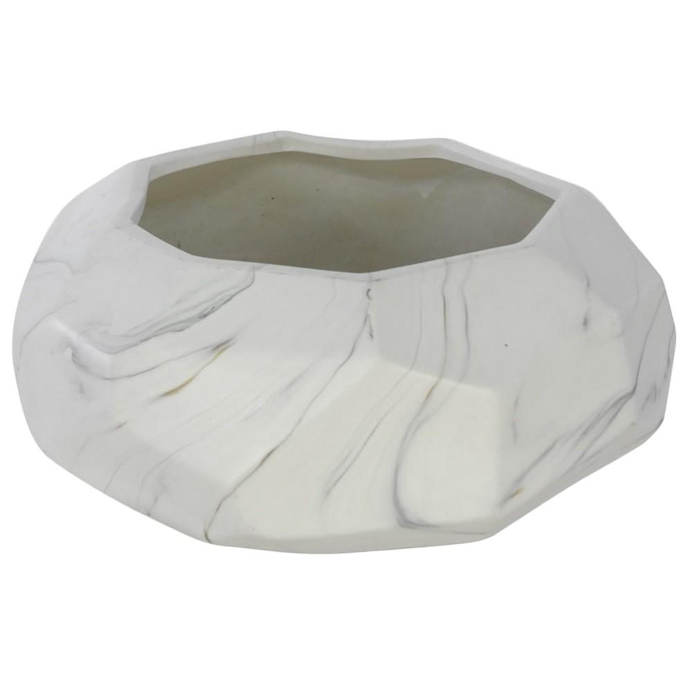 Vaso Decorativo de Ceramica Redondo Marmore 10 cm - Dea