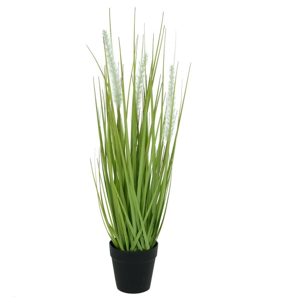 Arranjo Vaso Capim Verde Creme 53 cm - Dea