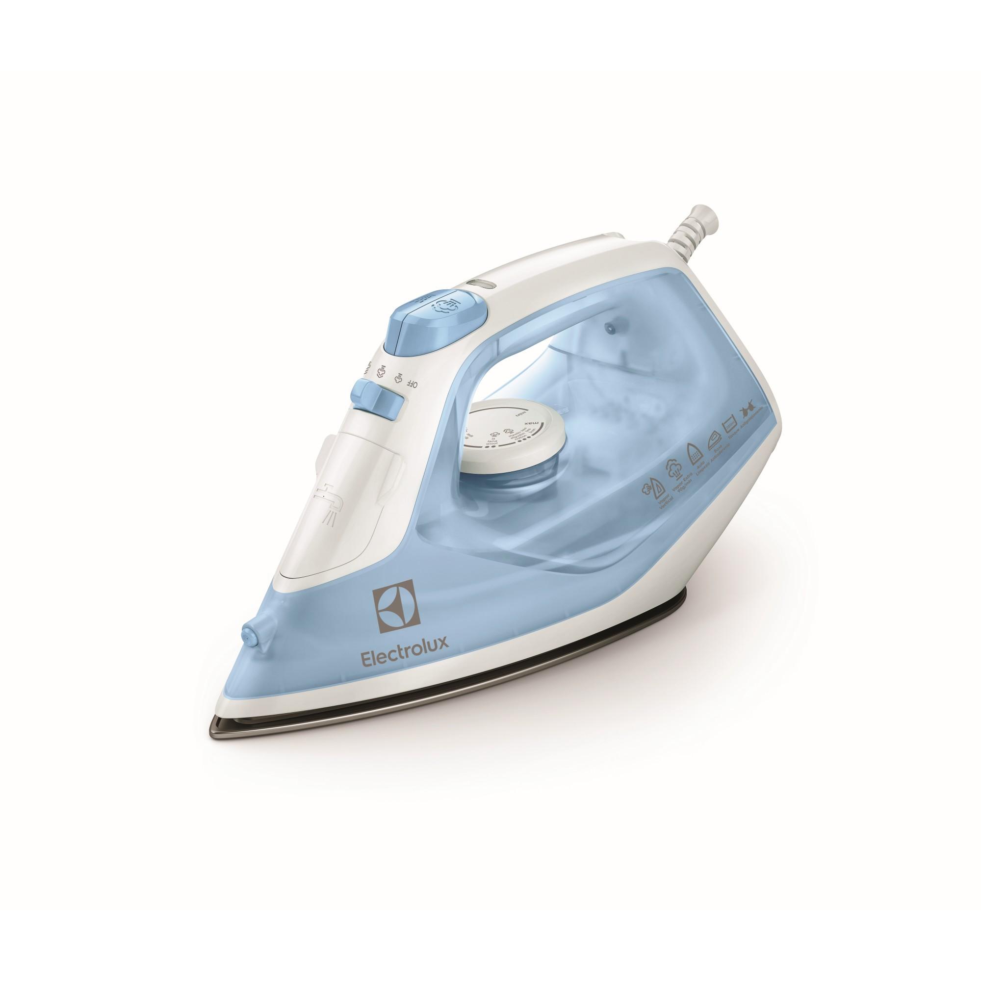 Ferro de Passar a Vapor e a Seco Easyline Electrolux SIE60 220V Azul Claro - Auto Limpeza
