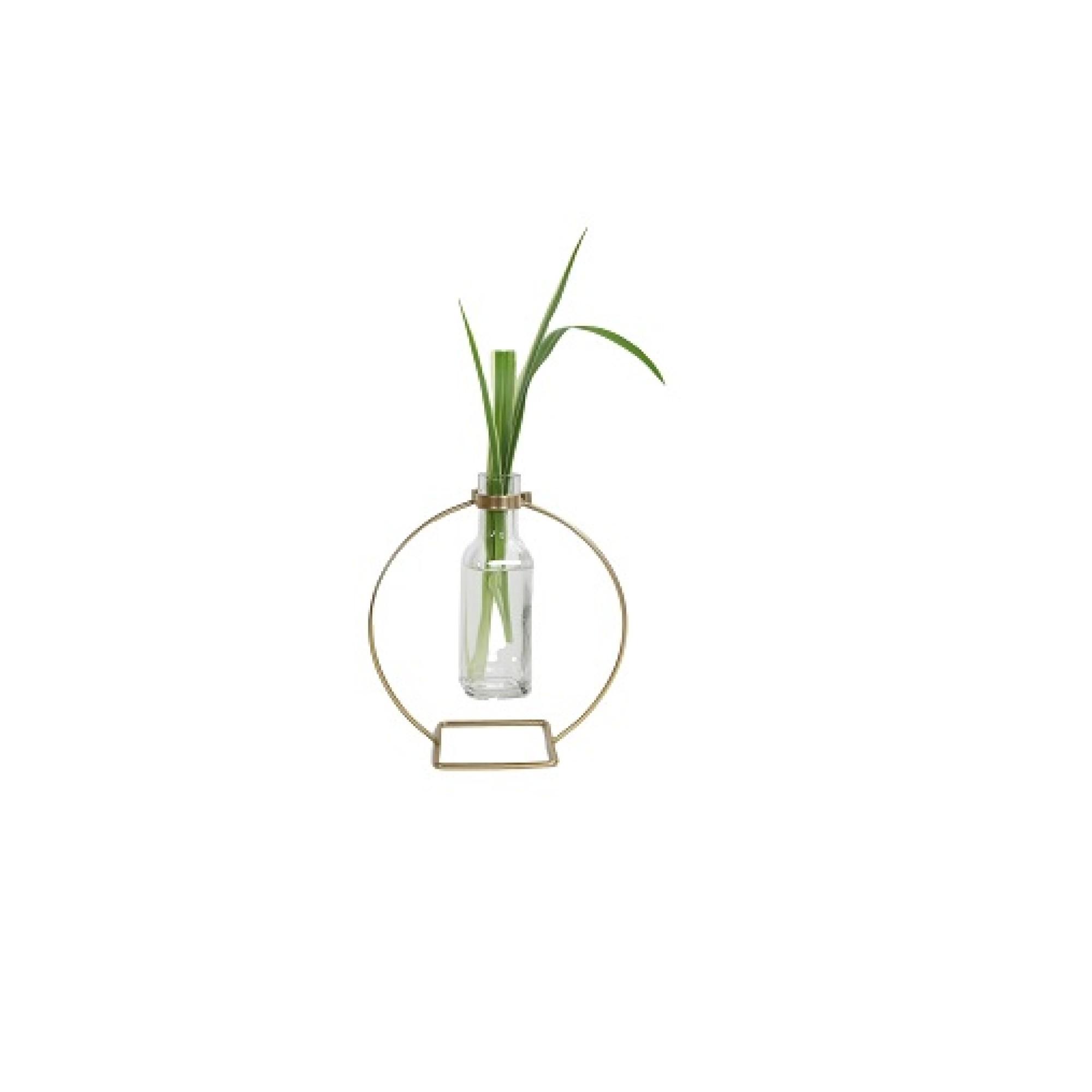 Vaso Decorativo de Vidro 19 cm - Casa Ambiente