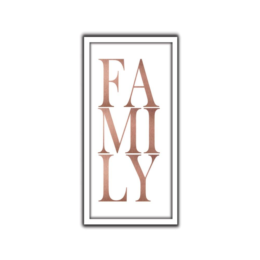 Quadro Decorativo 33x70 cm Family - Art Frame