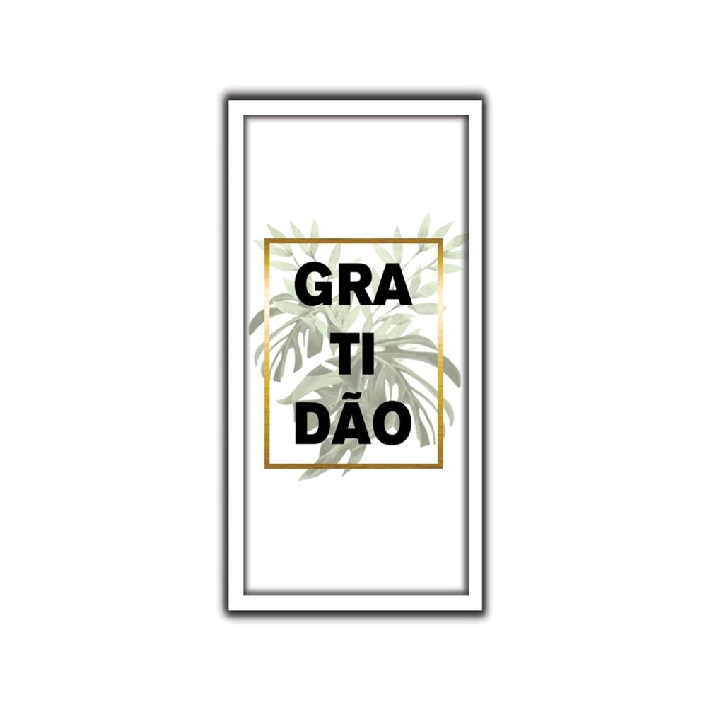 Quadro Decorativo 33x70 cm Gratidao 9079 - Art Frame
