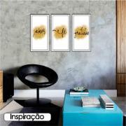 Quadro Decorativo 33x70 cm Fé - Art Frame
