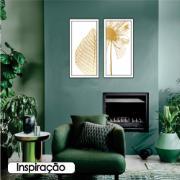 Quadro Decorativo 33x70 cm Folhagem 907/14 - Art Frame