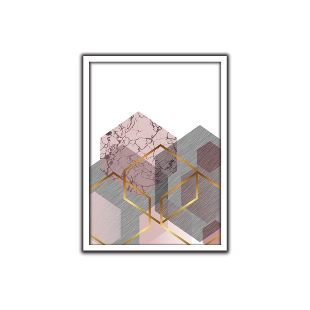 Quadro Decorativo 50x70 cm Geometrico 9083 - Art Frame