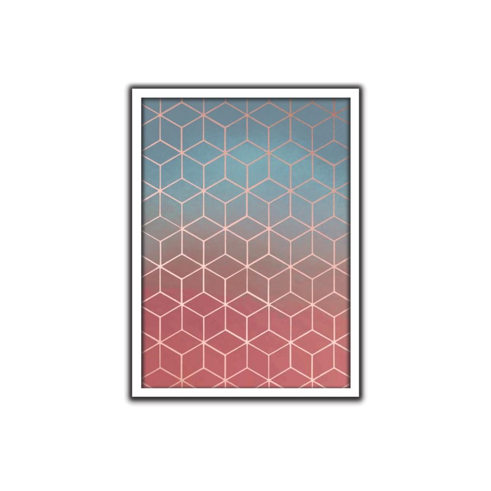 Quadro Decorativo 50x70 cm Geometrico 90810 - Art Frame