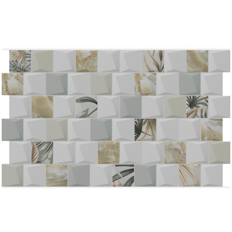 Revestimento Ceramico Incenor Tipo A Encaixe Coqueiro 35x59 cm Texturizado Brilhante 100 Impermeavel