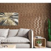 Revestimento Cerâmico Tipo A Incenor Encaixe Massaranduba 35x59 cm 100% Impermeável Brilhante Texturizado