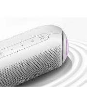 Caixa de Som LG Xboom Go PL7 Portátil Bluetooth IPX5 Branca