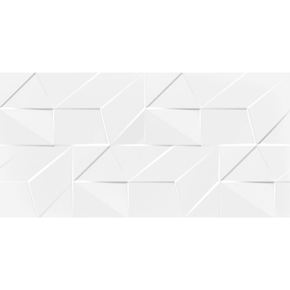Revestimento Ceramico Tipo A Tecnogres 37x74 cm Brilhante Monoporosa Lisianto 192m - Branco