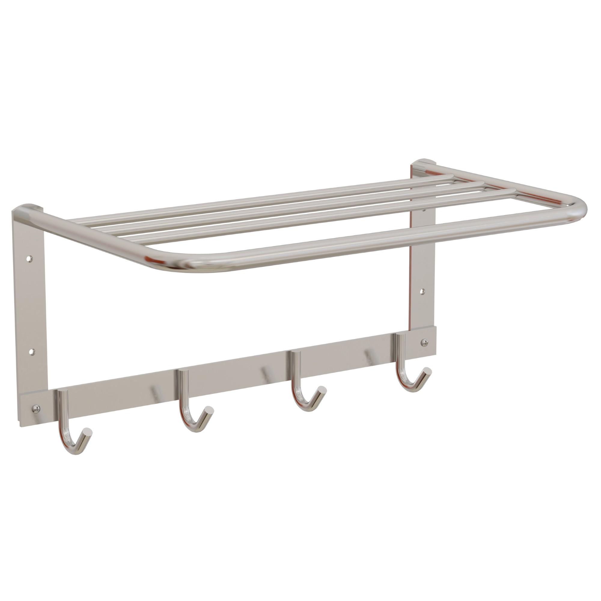 Porta Toalha Suporte de Aluminio 4 Cabides - Sicmol