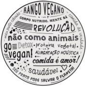 Prato Raso Redondo Vegano Cerâmica 26cm - Oxford