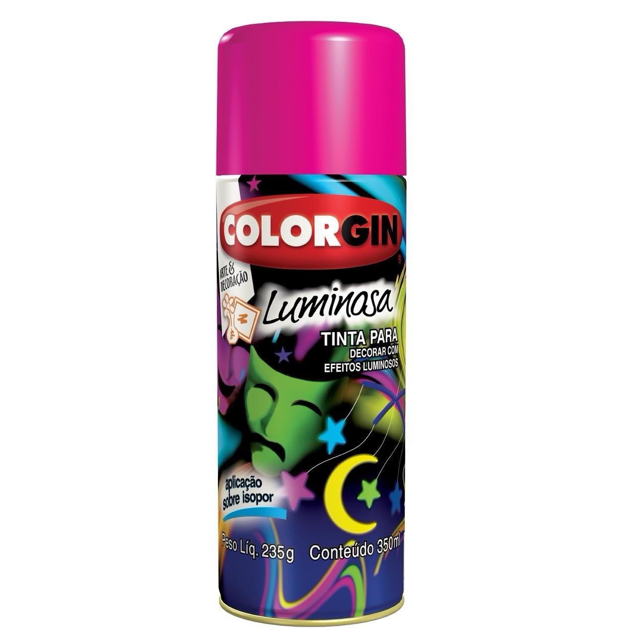 Tinta Spray Fosco Luminosa Interno - Vermelho - 350ml - Colorgin